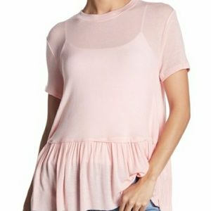 Abound peplum hem top